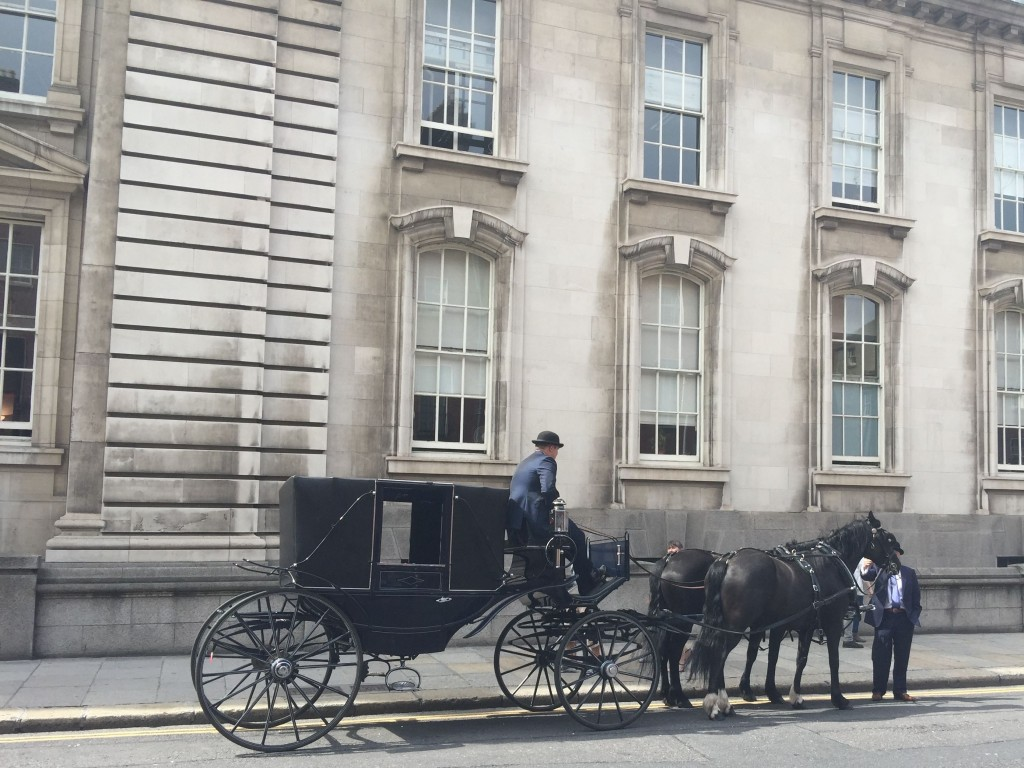 Leinster House Horse drawn caravan