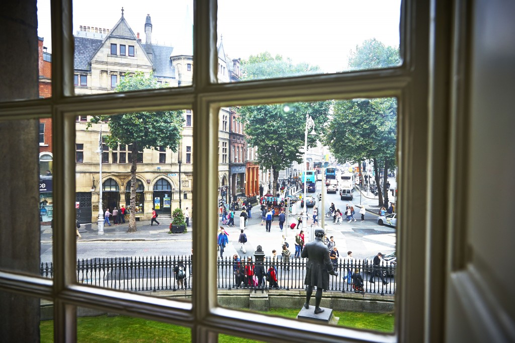 Dame street from regents house